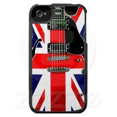 British Flag Union Jack Guitar iPhone 4 Covers.  $47.95