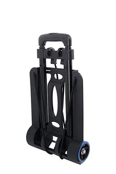Heavy Duty Black Steel Kit Trolley With Elastic Straps Outdoor Camping Carrying