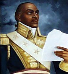 Toussaint Louverture, father of the Haitian Revolution. Port-au-Prince in Département de l'Ouest