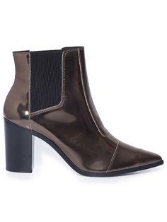 BOTA SALTO MÉDIO SPECHIO OTHER - PRATA Chelsea Boots, Booty, Ankle, Shoes, Fashion, Silver, Bags, Moda, Swag