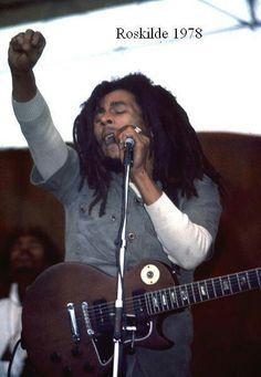 Bob Marley live at Roskilde Festival, Denmark, 1978