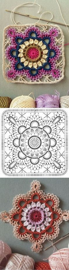Crochet Mantas Ideas Patrones 67 Ideas For 2019 Motifs Granny Square, Crochet Beanie Pattern, Crochet Blocks, Granny Square Crochet Pattern, Crochet Diagram, Crochet Chart, Crochet Squares, Love Crochet, Crochet Motif