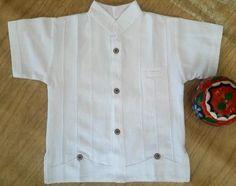Mexican boys shirt Mexican Guayabera Baptism boys shirts SIZE years old Baby Boy Shirts, Boys Shirts, Old Boys, Luxury Mens Clothing, Boys Kurta Design, Baby Boy Dress, Mexican Shirts, Stitching Patterns, Kurta Designs