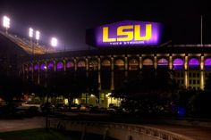 Thought Tiger Stadium couldn't be more awesome? Think again. Behold the new lighting system! #LSU