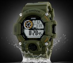 New Military Watches Multifunction 50M Water Resistant Resin Face Rubbuer Case Shockproof Dive Watch Men Fashion Watches FREE SHIPPING Item Type: Wristwatches is_customized: Yes Sport Type: Diving Dia