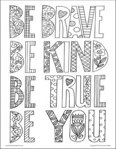 Flip through nature-inspired adult coloring book designs by international artist Susan Black. Quote Coloring Pages, Coloring Pages Inspirational, Colouring Pages, Printable Coloring Pages, Coloring Sheets, Coloring Books, Camping Coloring Pages, Free Adult Coloring, Color Quotes