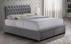Valentino Grey Fabric Bed £399