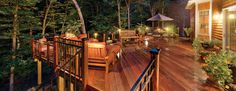 Elevated Decking with Superb Outdoor Lighting