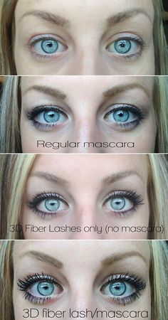 Ohhhh this mascara!!! 3D Fiber Lashes ~ falsies in a tube! $29 = 3 month supply www.fabmylashes.com