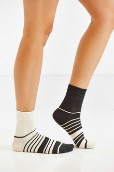 Mismatched Stripe Crew Sock - Urban Outfitters