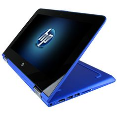 HP Pavilion x360 11t Touch 2-in-1 Convertible Mini Laptop  Blue (11.6 HD Touchscreen Intel Pentium N3710 8GB RAM 500GB HDD Intel HD 405 Graphics Windows 10) Best Small Notebook Tablet Hybrid