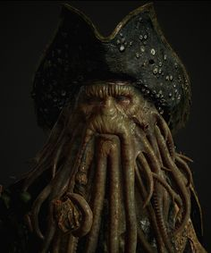 Davy Jones (Marmoset Viewer) - Pirates of the Caribbean fan art by YOSUKE ISHIKAWAMore selected artworks by Ishikawa on my tumblr [here]