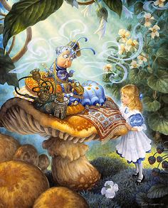 Alice's Illustrated Adventures In Wonderland: Chapter 5 ~ Advice From A Caterpillar