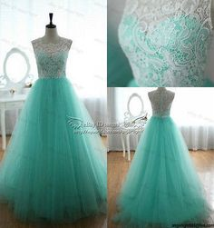 2014 Green Wedding party Bridesmaid dress Prom Graduation Ball Evening long Gown