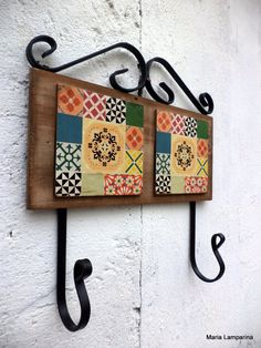 Cabideiro - Azulejos | Maria Lamparina | Elo7