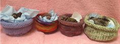Volunteers needed to make knitted nests for orphaned baby birds. A good use for your scraps. Free patterns included on the website.