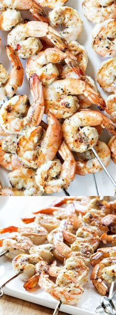 WOW your guests at your next barbecue with these Grilled Garlic Basil Shrimp from My Baking Addiction.