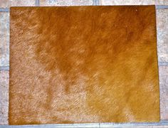 "Hair On Leather 8""x10"" Flawed HAZELNUT / Burnt Sienna / Tobacco reddish brown HOH #17 / 3 Cowhide PeggySueAlso?"