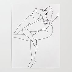 lovers Poster by Peachy Honey - X Abstract Drawings, Cool Art Drawings, Art Drawings Sketches, Pencil Art Love, Sketches Of Love, Outline Art, Ink Illustrations, Erotic Art, Aesthetic Art