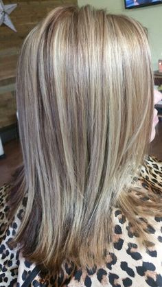 3 foil color with red brown lowlights hair