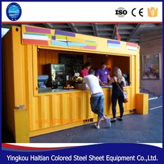 Source prefabricated bar Mobile container restaurant fast outdoor food kiosk designfor sale on m.alibaba.com