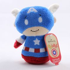 Hallmark Itty Bittys Bitty Marvel Plush Captain America 4 Inches Tall