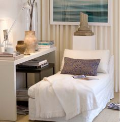 How to Create a Relaxing Reading Nook - http://freshome.com/2010/11/07/how-to-create-a-relaxing-reading-nook/