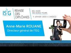Remise des diplômes 2013: Discours d'Anne-Marie Rouane