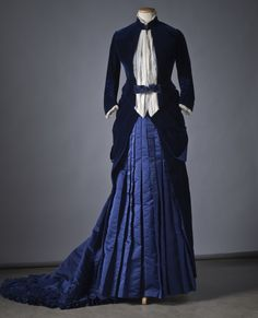 Dress in silk and velvet from Augusta Lundin's sewing workshop in Stockholm in 1885   Source: elyssediamond.tumblr.com