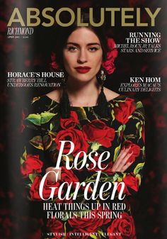Monika Hirzin in Dolce&Gabbana for Absolutely Richmond magazine April