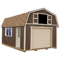 Best Barns Tahoe 12 ft. x 20 ft. Wood Garage Kit with Sturdy Built Floor-tahoe_1220f - The Home Depot