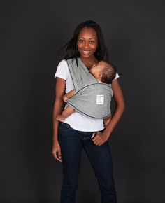 New! Heather Grey with Navy Stitching! $49.95. Baby K'tan