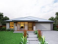 Our Belrose 27 is a single storey home with 4 bedrooms, 2 baths and more (view floor plan). Visit our display home or call us on 1300 100 922 today. Family House Plans, Dream House Plans, Contemporary House Plans, Storey Homes, Display Homes, Floor Plans, House Design, Mansions, House Styles