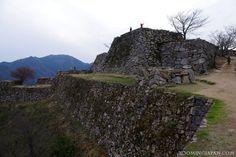 "Takeda Castle ruins (a.k.a. ""Castle in the Sky"") in Asago, Hyogo Prefecture"