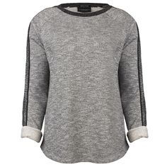 MAISON SCOTCH Feminime sweat with contrast details, lt grey