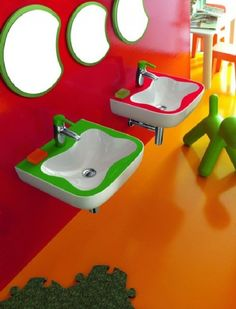 Colorful kids bathroom furniture at Bathroom Design Ideas Kids With Full Color