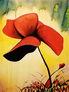 "Saatchi Online Artist: Kyle Brock; Acrylic, 2013, Painting ""Poppies"""
