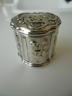 Lodereindoosje - loddereindoosje - antiek zilver 1760