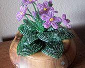 African Violets - Dee's Beaded Flowers