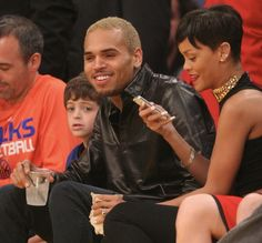 "Rihana and Chris ""Gold Teeth"" Brown"