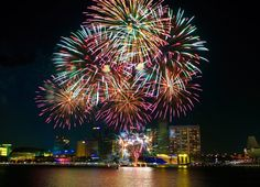 fireworks by Marina Bay Singapore!