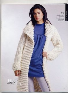 I'm making this asap Crochet Coat, Knitted Coat, Mohair Sweater, Crochet Cardigan, Sweater Coats, Knit Dress, Thick Sweaters, Sweaters For Women, Knit Jacket