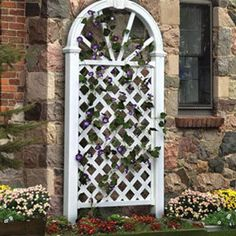 86 inch Nantucket Arched Crown Trellis:  As functional as it is beautiful, this trellis provides a perfect stage from which to show off your favorite climbing plants.