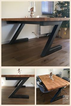 Industrial Table Made by Char Factory in The Netherlands and I Love It!!!