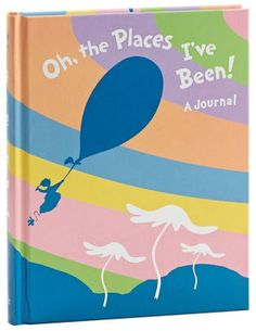 Dr. Seuss Oh, the Places I've Been! Bound Lined Journal