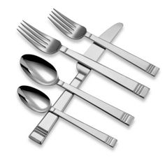 Lenox® Tin Can Alley® 22-Piece Flatware Set - BedBathandBeyond.com  $59.99