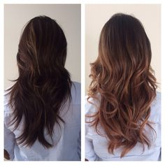 I am loving my new bayalage do!! Before and after. A huge change for me, but very happy with it!