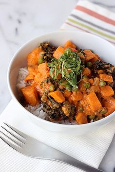 30-Minute Sweet Potato and Kale Coconut Curry {Gluten-free and Vegan} by Tasty Yummies, via Flickr