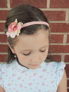 Felt flowers for headbands