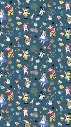 Alice in wonderland theme · pattern series disney screensaver, disney wallpaper, pixar movies, cellphone wallpaper, iphone wallpaper Cartoon Wallpaper, Disney Phone Wallpaper, Wallpaper Iphone Cute, Cute Wallpapers, Wallpaper Backgrounds, Trendy Wallpaper, Cellphone Wallpaper, Disneyland Iphone Wallpaper, Pattern Wallpaper Iphone